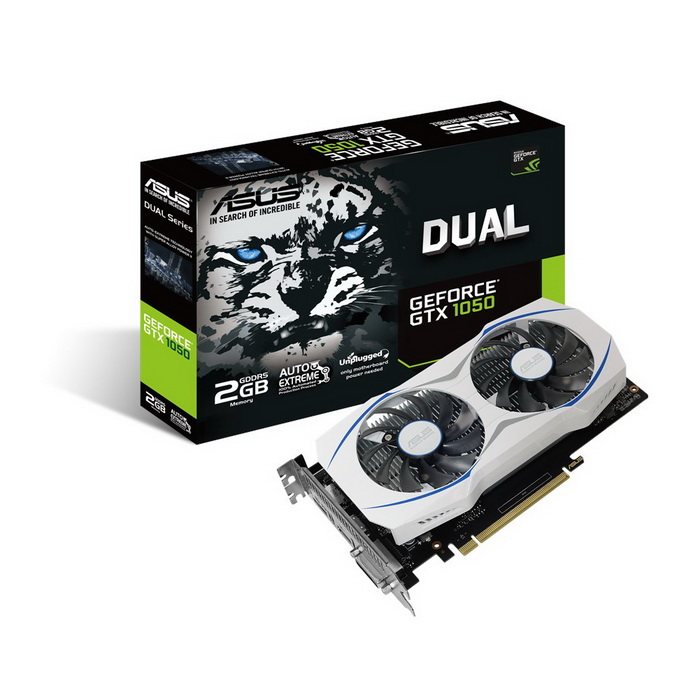 ASUS NVIDIA GEFORCE GTX 1050 DUAL FAN 2GB ( 128 BIT ) GDDR5