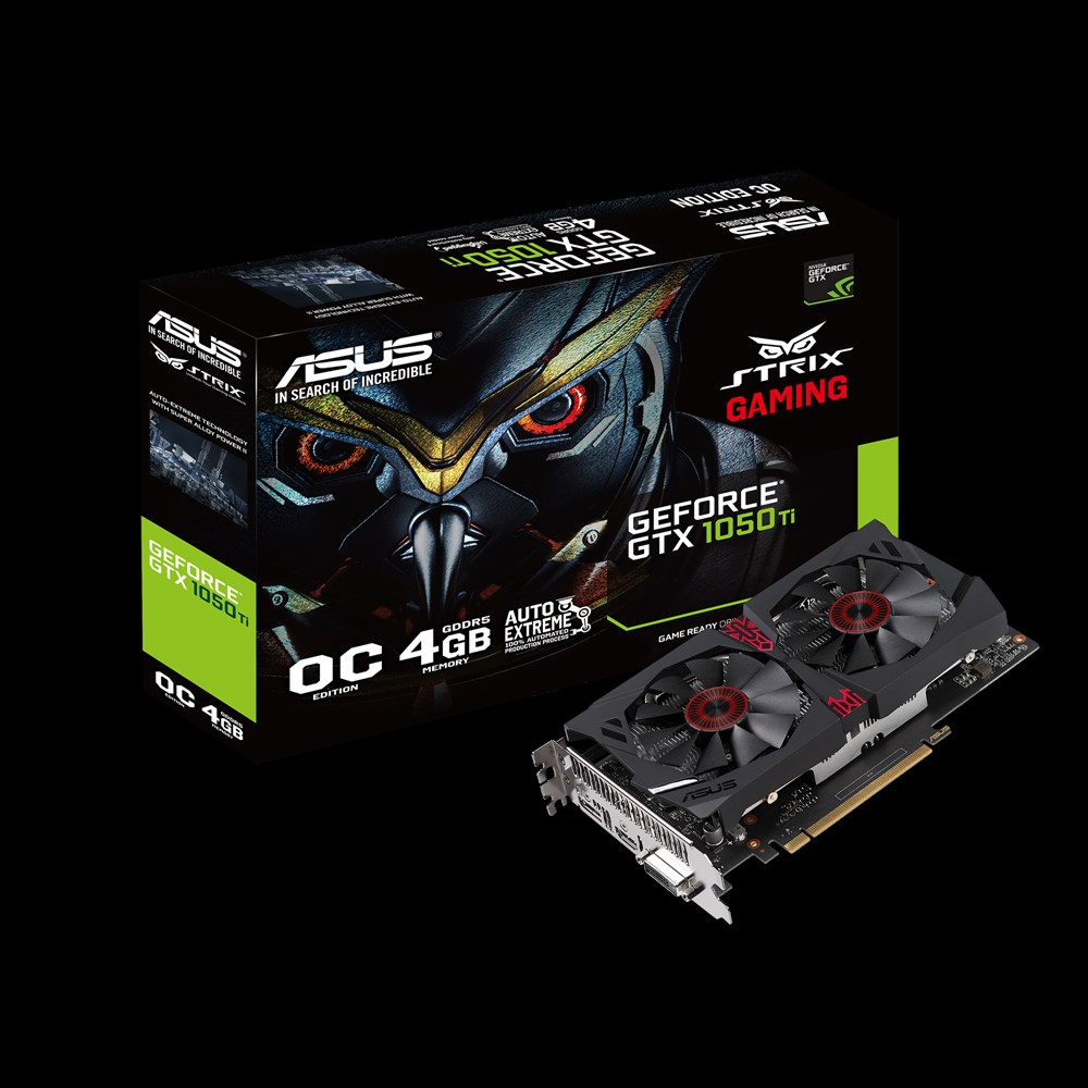 ASUS NVIDIA GEFORCE GTX 1050 TI STRIX OC EDITION 4GB (128 BIT) DDR5
