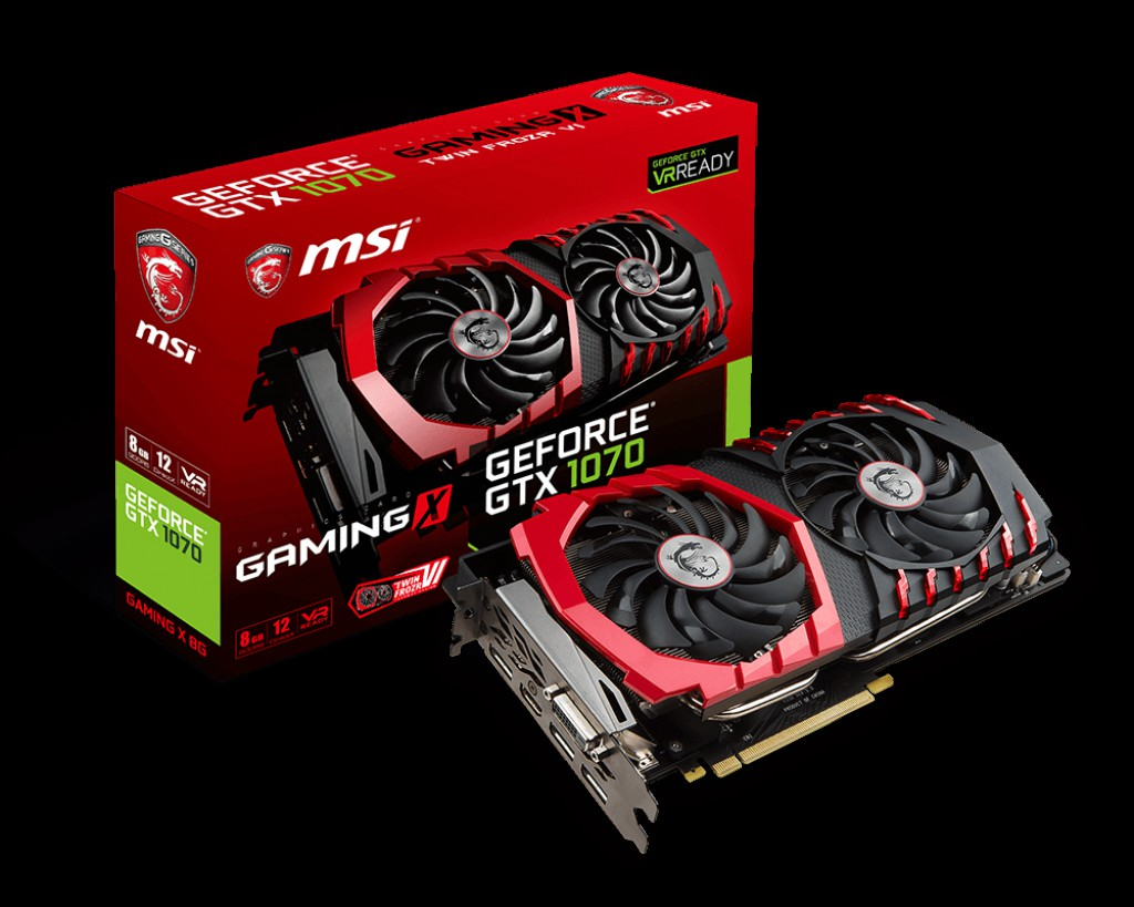 MSI NVIDIA GEFORCE GTX 1070 GAMING 8GB (256 BIT) DDR5