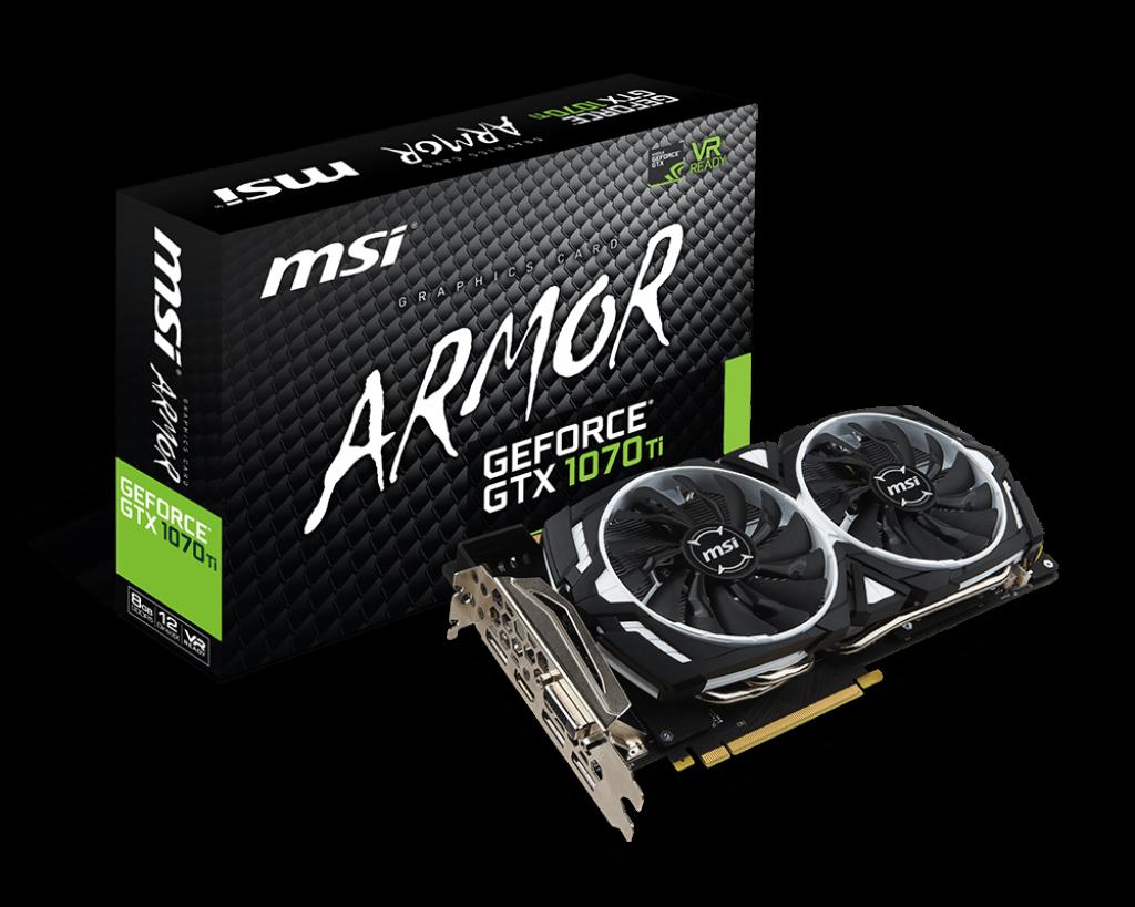 MSI NVIDIA GEFORCE GTX 1070 TI ARMOR 8GB (256 BIT) DDR5
