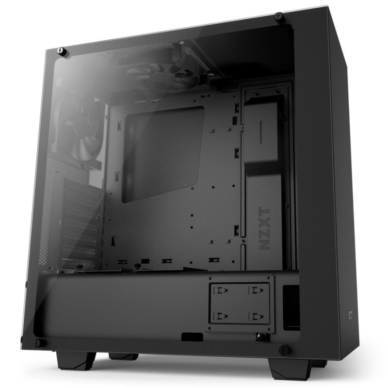 NZXT. S340 Elite Tempered Glass ATX Case – Black