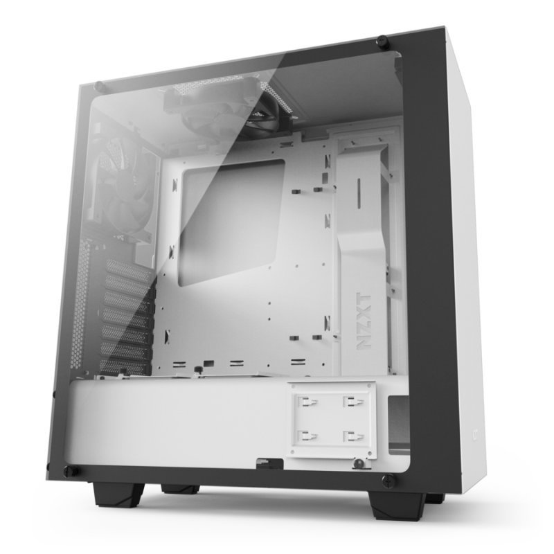 NZXT. S340 Elite Tempered Glass ATX Case – White
