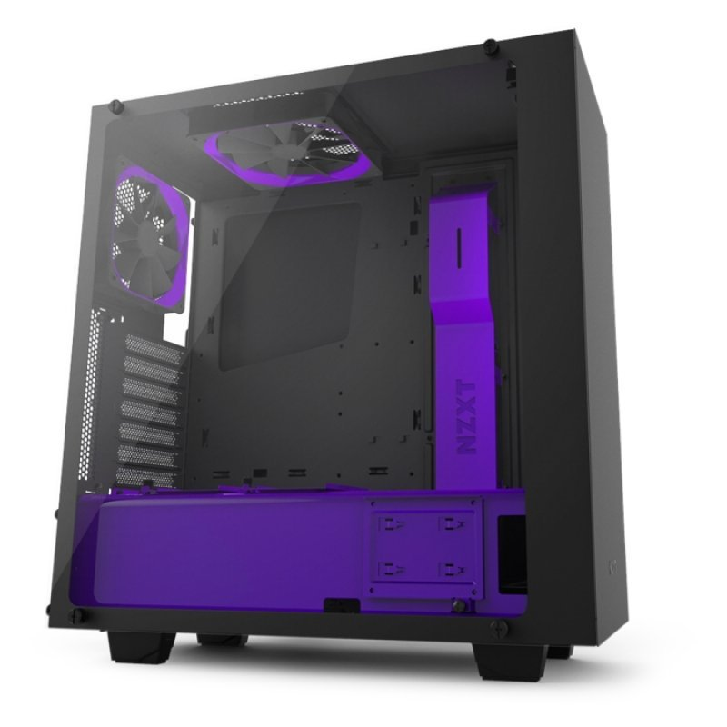 NZXT. S340 Elite Tempered Glass ATX Case – Limited Purple Edition