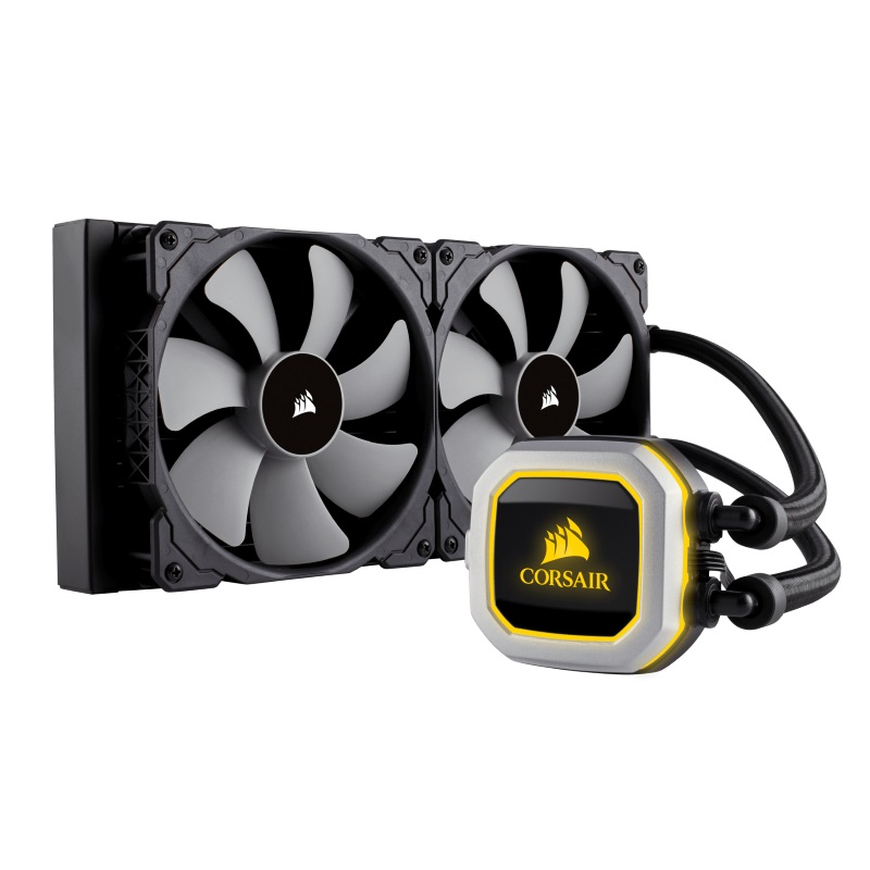 CORSAIR HYDRO SERIES H115I PRO RGB – 280MM RADIATOR WITH DUAL FAN CPU COOLER