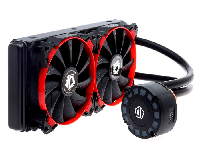 ID COOLING FROSTFLOW 240L RED LED- HIGH PERFORMANCE WATERCOOLING KIT