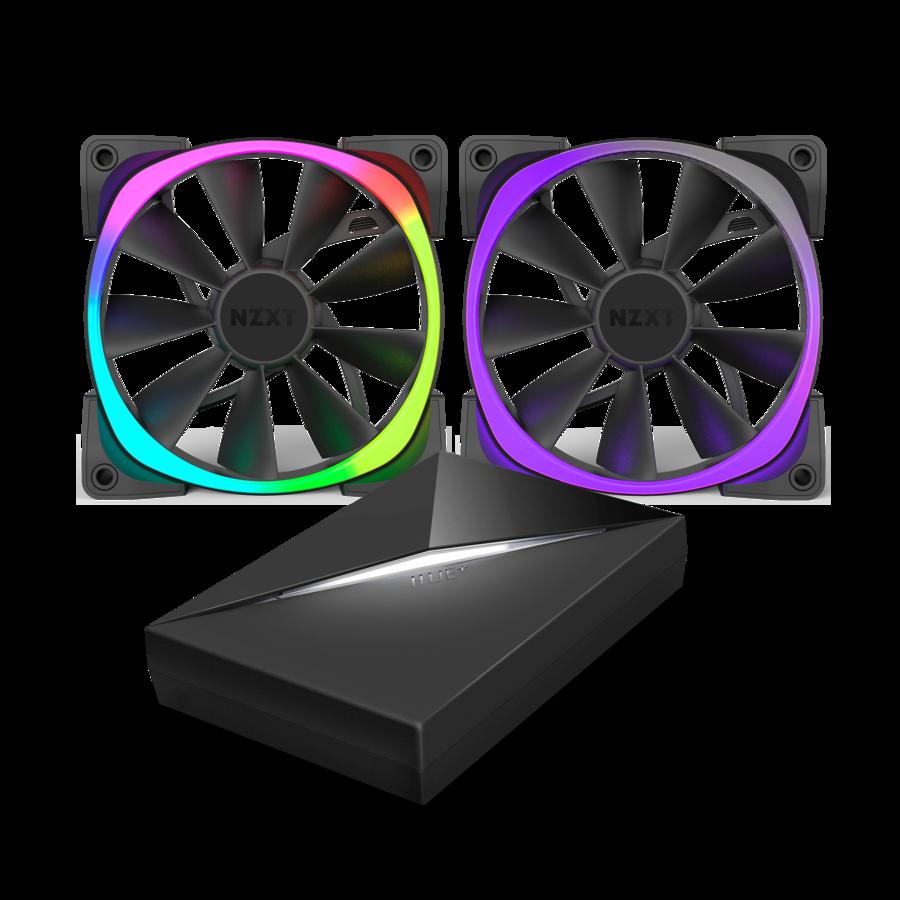 NZXT AER RGB 140mm x2 & HUE+