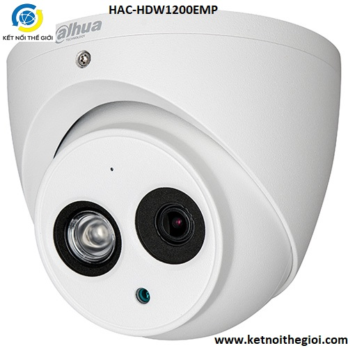 Camera Dahua HAC-HDW1200EMP 2.0 Megapixel, IR 50m, F3.6mm, vỏ nhôm, Camera 4 in 1